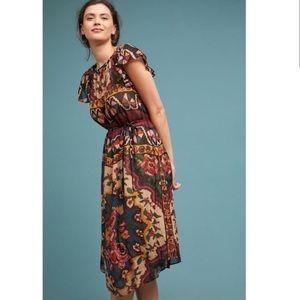 ANTHROPOLOGIE Akemi + Kin Mosaic Midi Dress SZ: SP